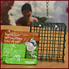 Packaged suet with cage