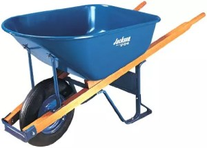 Jackson M6T22 6 Cubic foot Steel Tray Contractor Wheelbarrow