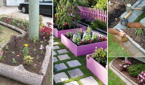 Top 28 Surprisingly Awesome Garden Bed Edging Ideas ... on Backyard Border Ideas id=34709