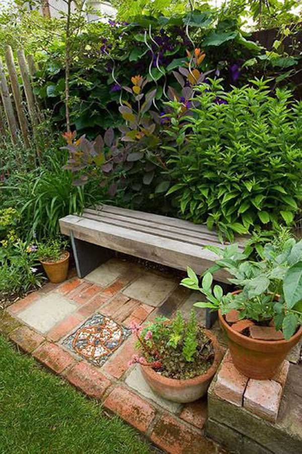 23 Easy-to-Make Ideas Building a Small Backyard Seating ... on Small Garden Sitting Area Ideas  id=33951