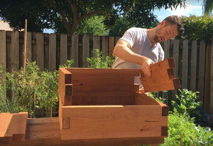 How Our Raised Garden Beds Stack W O Tools Gardeninminutes