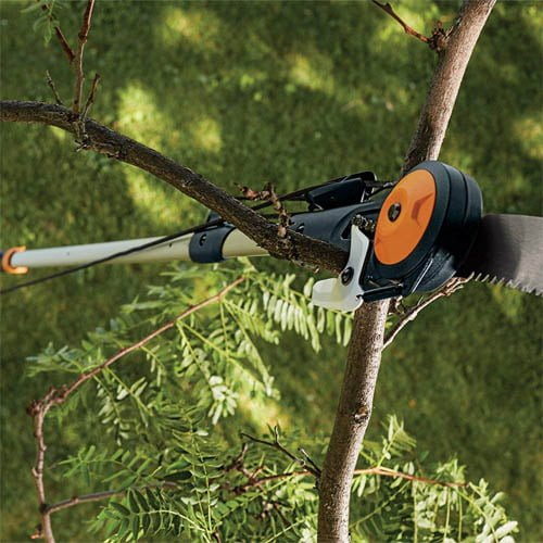 Fiskars Power-Lever Extendable Pole Saw & Pruner