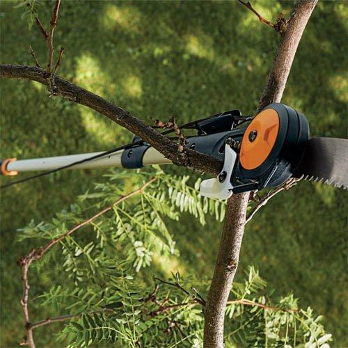 Fiskars Power-Lever Extendable Pole Saw & Pruner