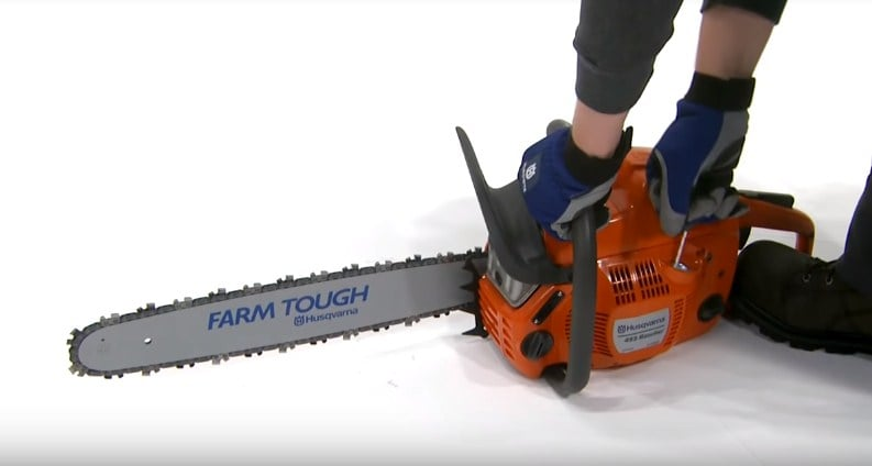 chainsaw starting techniques