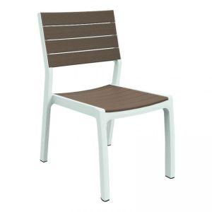 d4ed34d0eb5e Designová zahradní židle HARMONY – bílé + cappuchino