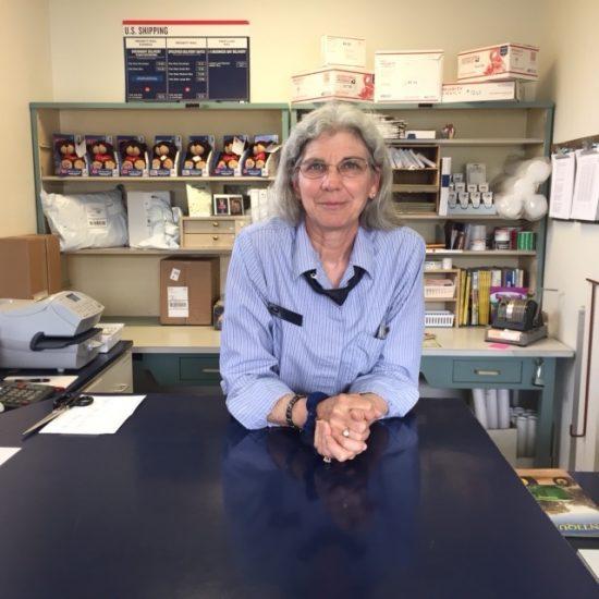Celesta McComas at the Salvisa, Kentucky post office