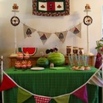 Watermelon Dessert Table