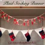Plaid Stocking Banner