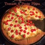 Mozzarella, Tomato & Pesto Pizza