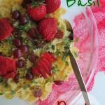 Lemon Strawberry Basil Pasta Salad