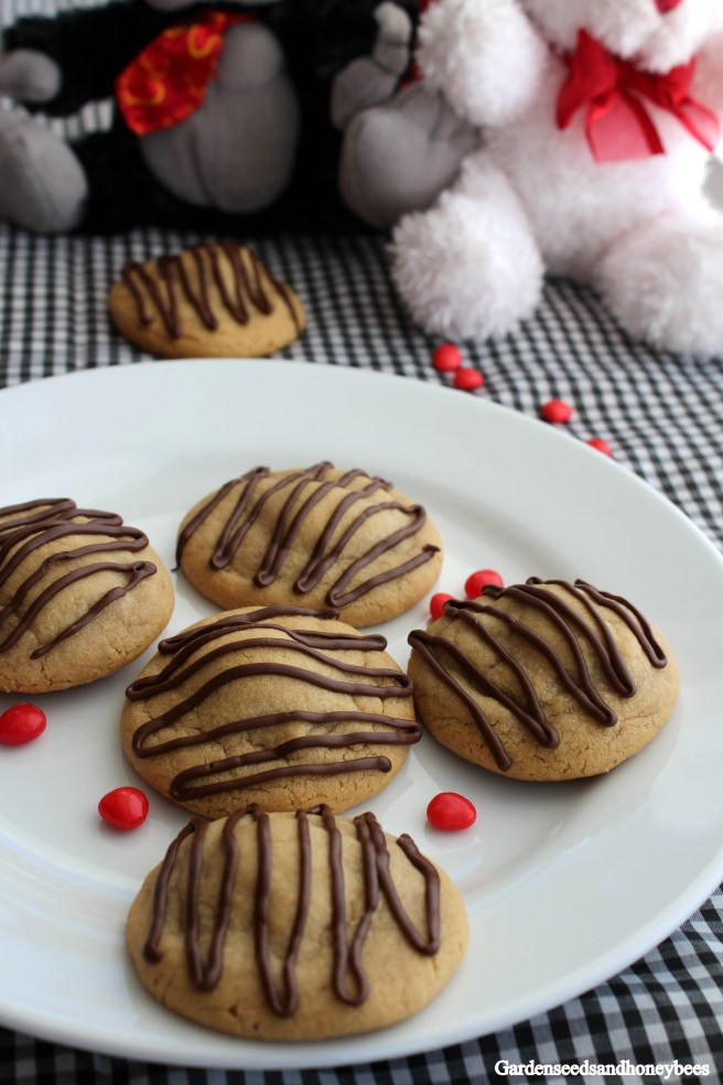 Peanut Butter Cup Cookies - Red Black Valentines Dinner
