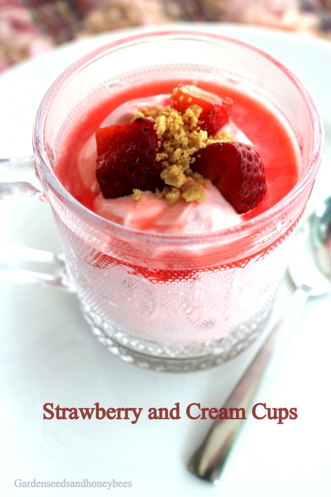 Strawberry and Cream Cups