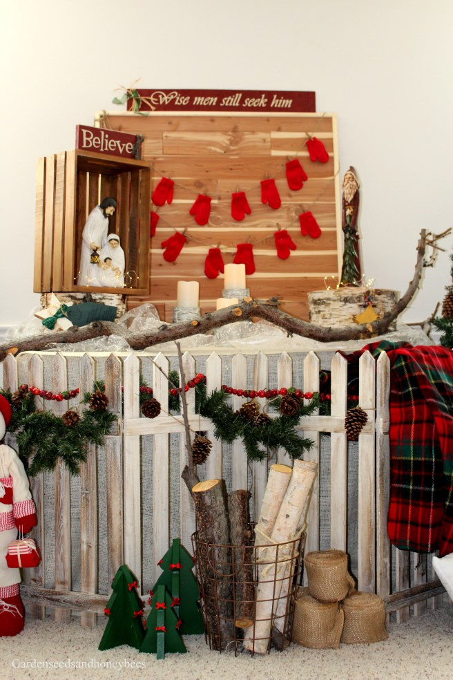 Christmas Buffalo Check Decor Garden Seeds And Honey Bees