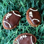 Ganache Football Brownies