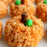 Pumpkin Rice Krispie Jell-O Treats