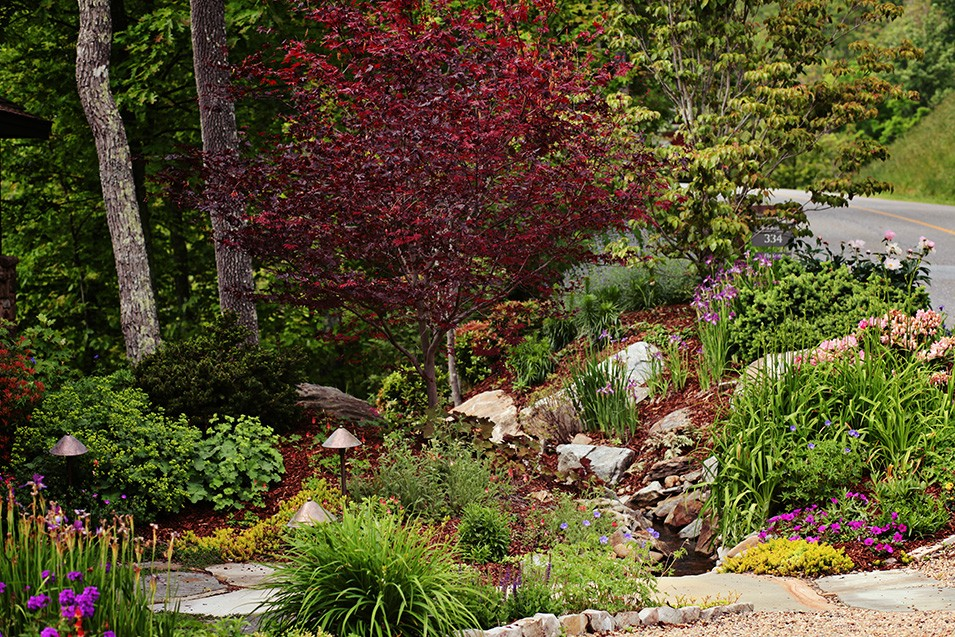 Mountain Air Landscape Design by Gardens for Living on Mountain Backyard Ideas  id=79975
