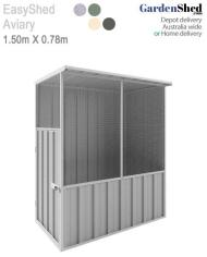 EasyShed Bird Aviary Cage Zinc