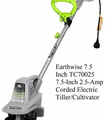 Earthwise 7.5 Inch TC70025 7.5-Inch 2.5-Amp Corded Electric Tiller Cultivator