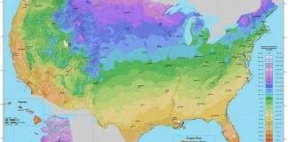 USDA Plant Hardiness Zone Map (USA)