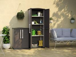 Rubbermaid Storage Sheds in your Outdoor Cabinet for Patio
