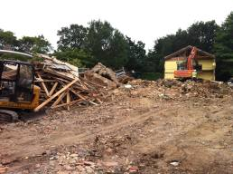 Guildford Court block being demolished in 2013