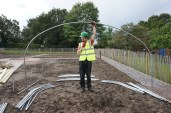 11th October 2014: David realises the ground tubes might be a bit far apart...