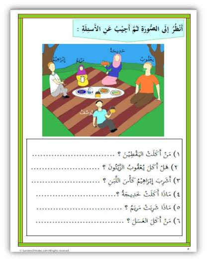 Quran Curriculum. Quranic food, drinks related verbs and nouns free practice
