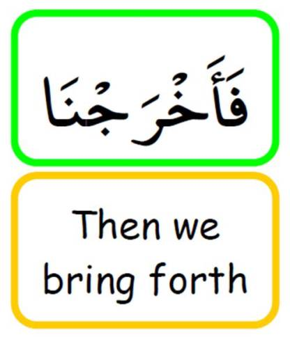 Word for word Quranic translation