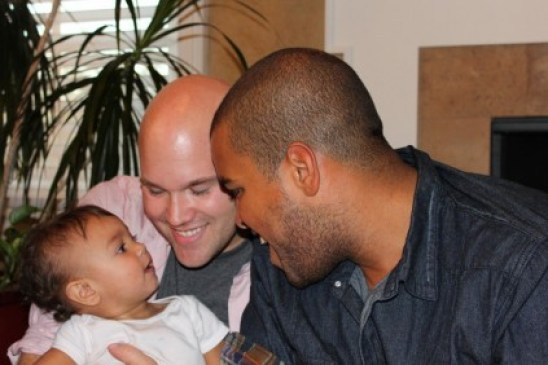 JC Powell, Christopher, and baby Gracen