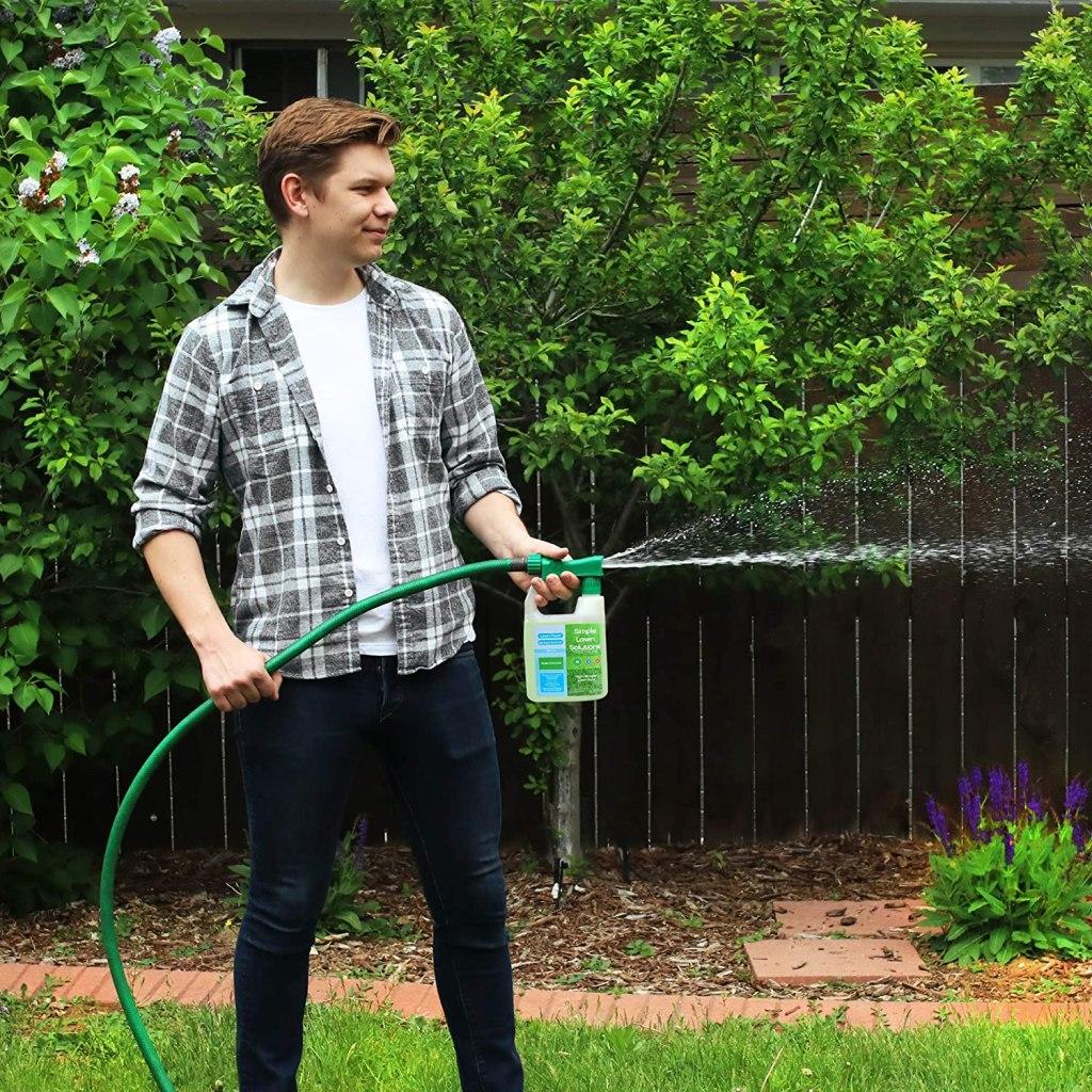 Man Using Nitrogen Fertilizer