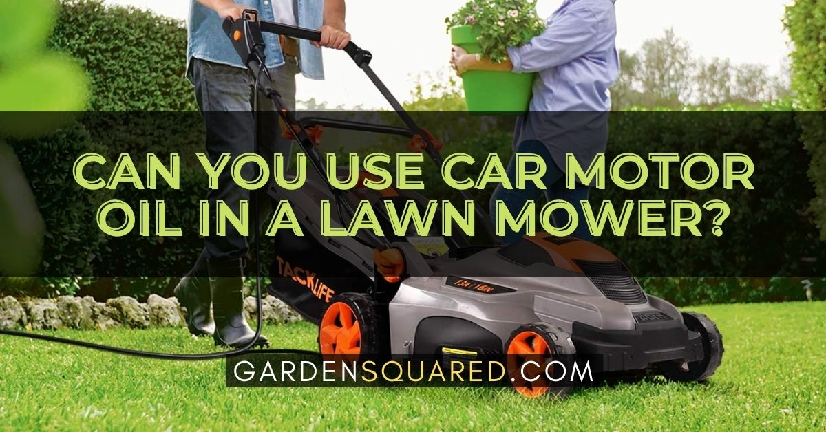 Can You Use Car Motor Oil In A Lawn Mower