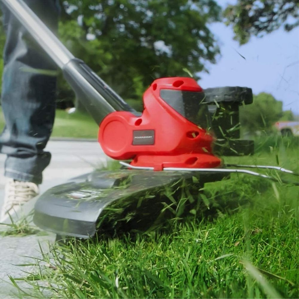 PowerSmart 20 Volt Lithium-Ion Cordless String Trimmer/Edger with Easy Feed, Includes One Battery & Charger