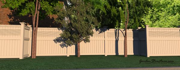 Substantial intriguing and beautiful fence designs