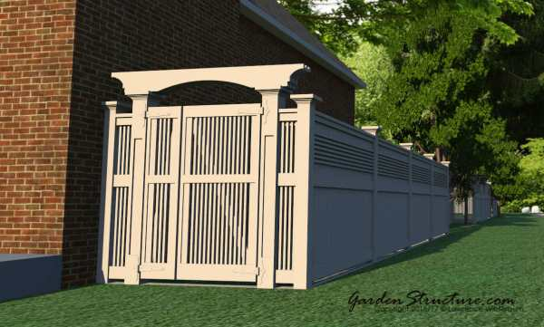 Create entrance gates with our designs and fence plans