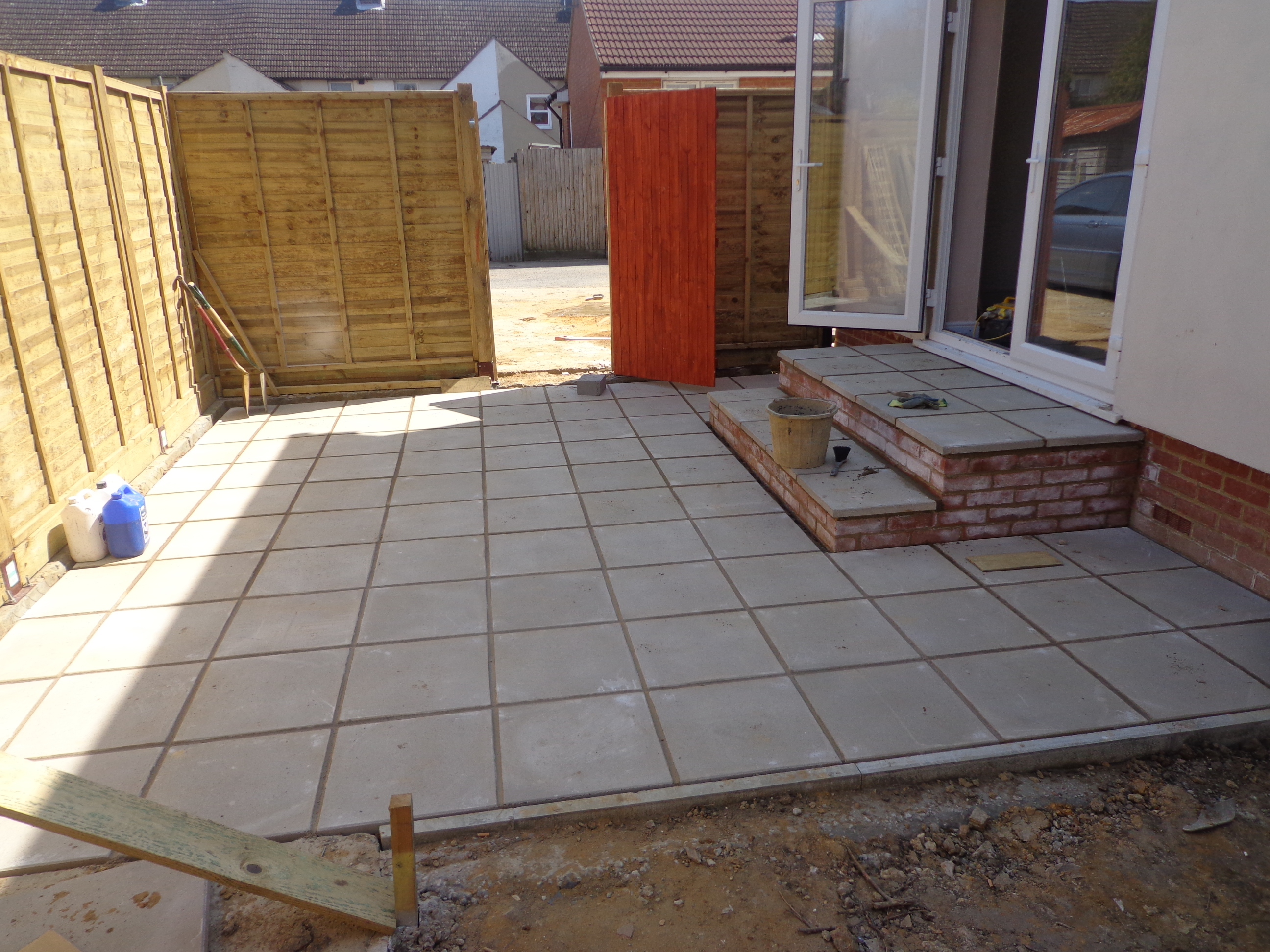 Patios | Ashford Fencing and Gardening Services on Square Patio Designs  id=71453