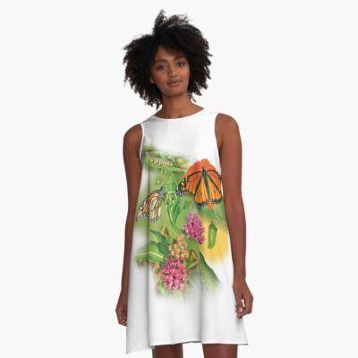 Monarch butterfly dress sold on redbubble