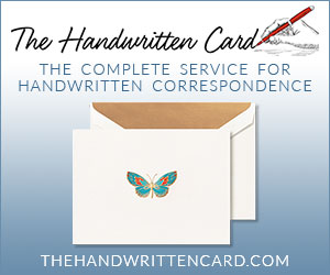 The Handwritten Card. The complete service for handwritten correspondence.