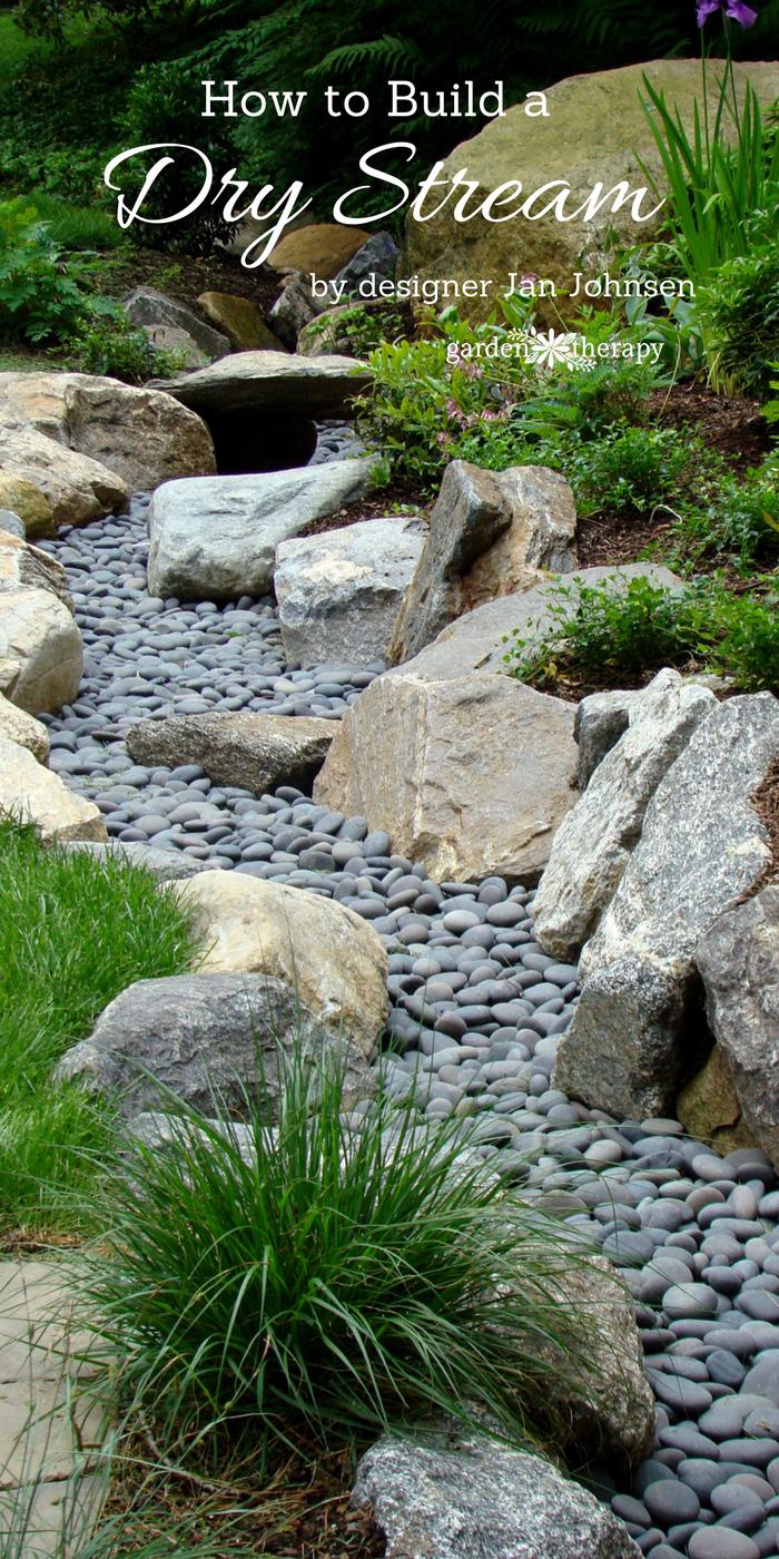 A Beautiful Way to Catch Runoff: How to Build a Dry Stream ... on Backyard Stream Ideas id=16704