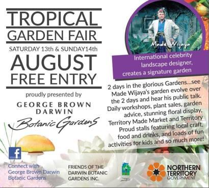 Tropical Garden Fair promo George Brown Darwin Botanic Garden