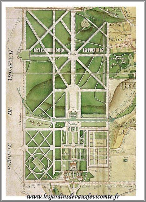 Plan of Vaux le Vicomte