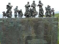 Fishing disaster memorial in Cove, Scottish Borders