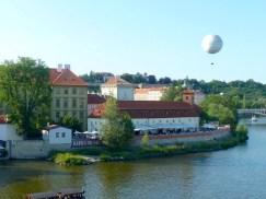 Western bank of Vltava River in Prague