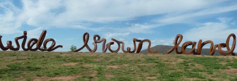 'Wide Brown Land' sculpture, National Arboretum, Canberra