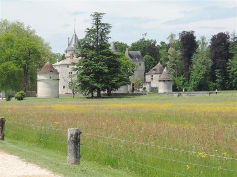 Picturesque castle in south-west France