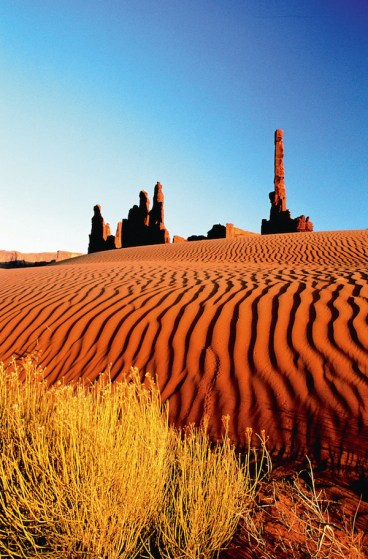 Sand dunes in Monument Valley