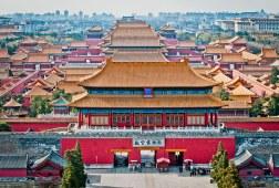 Beijing's Forbidden City as seen from Jinshan Park