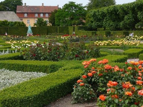 Rose garden of Rosenborg Castle, Copenhagen