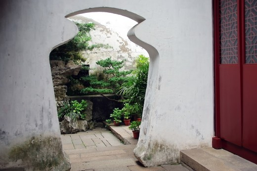 Doorway in Suzhou, China Photo Dezalb