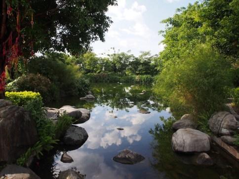 Three Pagodas garden Dali, Yunnan