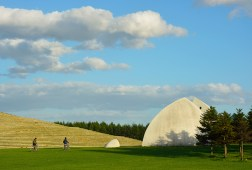 """Sculpture of the Earth"" created by Isamu Noguchi MoereNuma Park © City of Sapporo"